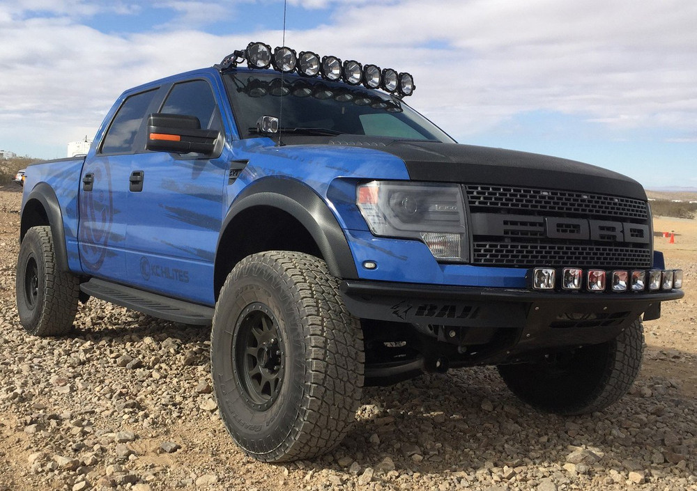 kc hilites gravity led pro6 led light bar 57 f 150 raptor 9 ring rh headlightrevolution com