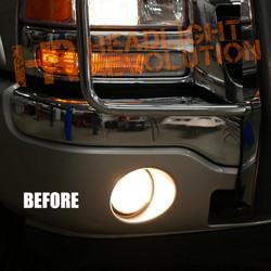 2003 - 2006 GMC Sierra LED Fog Light Bulbs Upgrade, Putco Silver Lux