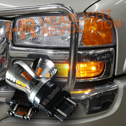 1999 - 2006 GMC Sierra Front Turn Signal LED Bulbs Upgrade Kit, Carbide Series