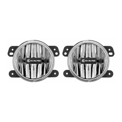 KC HiLiTES GRAVITY® LED G4 2010-2018 JEEP JK LED FOG PAIR PACK SYSTEM