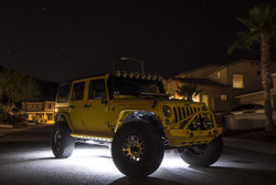 KC HiLiTES CYCLONE LED ROCK LIGHT KIT FOR 07-18 JEEP JK