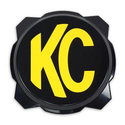 "KC HiLiTES GRAVITY® PRO6 BLACK 6"" LIGHT COVER WITH YELLOW KC LOGO"