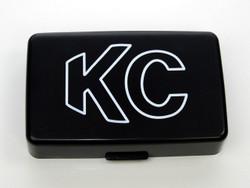 "KC HiLiTES 5"" X 7"" PLASTIC COVER (BLACK WITH WHITE OUTLINE KC LOGO)"
