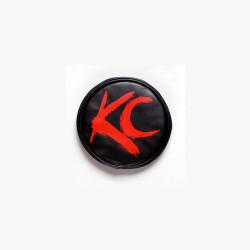 "KC HiLiTES 6"" Vinyl Cover Black with Red Brushed KC Logo"