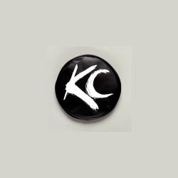 "KC HiLiTES 6"" Vinyl Cover Black with White Brushed KC Logo"