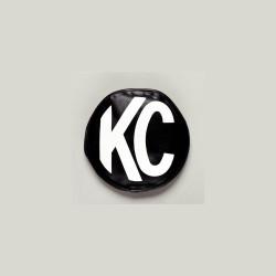 "KC HiLiTES 8"" Vinyl Cover Black with White KC Logo"