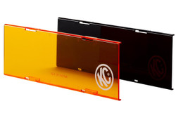 "KC HiLiTES 10"" ACRYLIC LIGHT SHIELD/COVER (Black or Amber)"