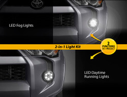 Auer Automotive 2014-2018 TOYOTA 4RUNNER 2 in 1 LED FOG/DRL Upgrade Kit
