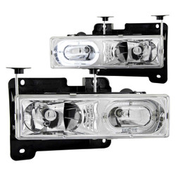 Anzo CRYSTAL HEADLIGHTS w/ HALO CHROME Chevy/GMC 1988-1999