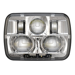 "JW Speaker 8910 Evolution 2 Dual Beam 5"" x 7"" Chrome Headlights (Heated)"