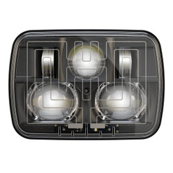 "JW Speaker 8910 Evolution 2 Dual Beam 5"" x 7"" Black Headlights (Heated)"