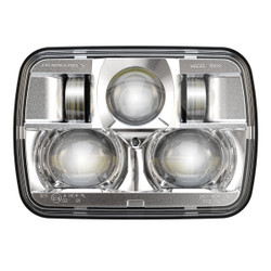"JW Speaker 8900 Evolution 2 Dual Beam 5"" x 7"" Chrome Headlights"