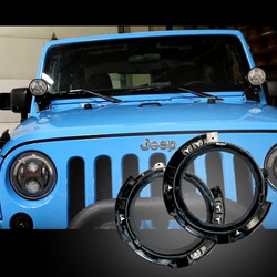 JW Speaker Mounting Ring Kit for 2017 Jeep Wranglers with Stock LED Headlights