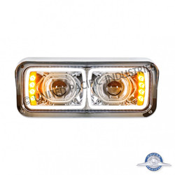 United Pacific Peterbilt LED Projection Headlight with LED Turn Signal - Driver Side