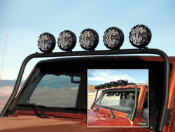 KC HiLiTES  2007-2016 JEEP JK 5-TAB OVERHEAD LIGHT BAR MOUNT BLACK