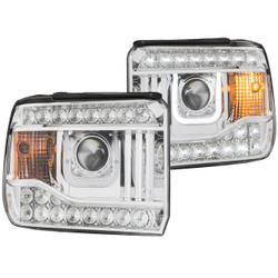 ANZO GMC SIERRA 2014-2016 PROJECTOR HEADLIGHTS U-BAR CHROME CLEAR