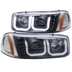 ANZO GMC SIERRA 1999-2006 PROJECTOR HEADLIGHTS U-BAR BLACK CLEAR