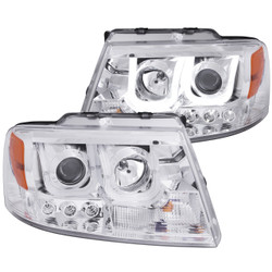 ANZO FORD F-150 2004-2008  PROJECTOR HEADLIGHTS U-BAR CHROME CLEAR