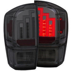 ANZO 2016-2017 TOYOTA TACOMA L.E.D. TAIL LIGHTS SMOKE