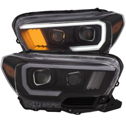 Anzo TOYOTA TACOMA 2016-2018 PROJECTOR PLANK STYLE HEADLIGHT BLACK w/ AMBER