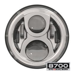 JW Speaker 8700 Evo 2 Dual Burn LED Headlight - Chrome