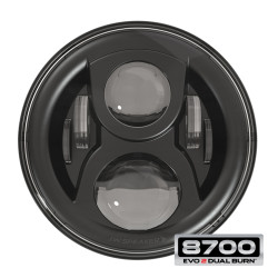 JW Speaker 8700 Evo 2 Dual Burn LED Headlight - Black