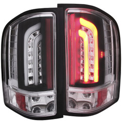 ANZO CHEVY SILVERADO 1500, 2500HD, 3500HD L.E.D TAIL LIGHTS BLACK G2