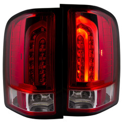 ANZO CHEVY SILVERADO 1500, 2500HD, 3500HD L.E.D TAIL LIGHTS RED G2