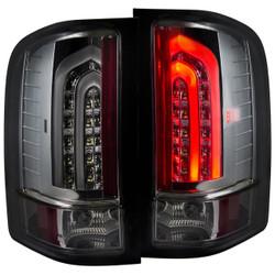 ANZO CHEVY SILVERADO 1500, 2500HD, 3500HD L.E.D TAIL LIGHTS SMOKE G2
