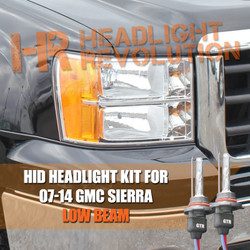 2007 - 2014 GMC Sierra Low Beam HID Headlight Conversion Kit