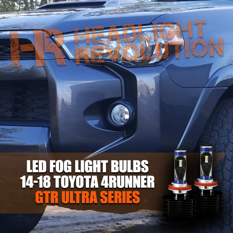 Vehicle Specific & 2014 - 2018 Toyota 4Runner Fog Lights LED Conversion Kit - GTR ...