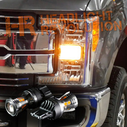 2017+ Ford F250 F350 Super Duty LED Front Turn Signal Bulbs Upgrade Kit - Amber