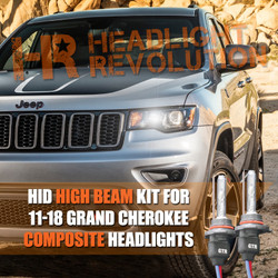 2011 - 2018 Jeep Grand Cherokee HID High Beam Conversion Kit