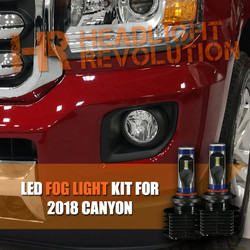 2015 - 2018 GMC Canyon / Canyon Denali LED Fog Light Conversion Kit