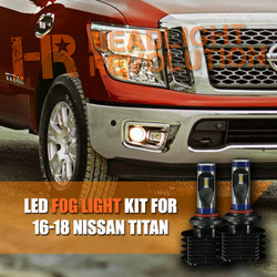 2016 - 2018 Nissan Titan Fog Light LED Bulb Upgrade Kit