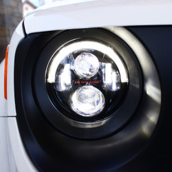 2015 -2017 Jeep Renegade Model 8700 Evolution 2R Black LED Headlights