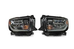 2014 - 2018 Toyota Tundra OEM Bi-LED Headlight Housing - Pair