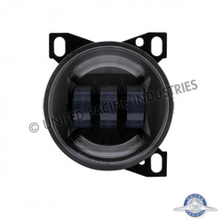 """United Pacific 4 1/4"""" Black Round LED Fog Light with LED Position Light for Peterbilt 579/587 & Kenworth T660 Series"""