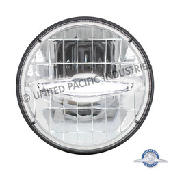 """UPAC 7"""" High Power LED Headlight with 10 White LED Daytime Running Light Bar"""