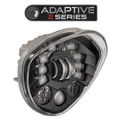 JW Speaker Victory Motorcycle LED Headlight 8695 Adaptive 2 Black