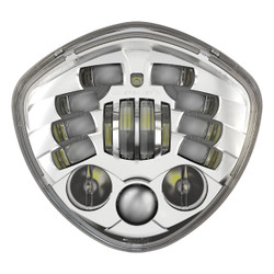JW Speaker Victory Motorcycle LED Headlight 8695 Adaptive 2 Chrome