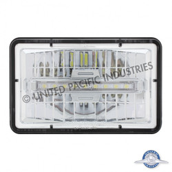 """United Pacific 4X6"""" Rectangular LED Headlight with DRL/Position Light Bar - High Beam"""
