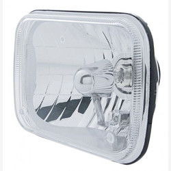 "United Pacific 31377 5x7"" Rectangular High and Low Beam Chrome Reflector Headlight Housing"