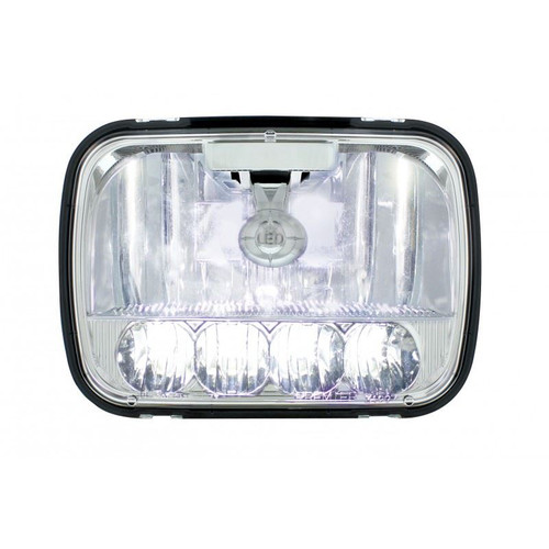 United Pacific 31297 5x7 Quot 5 Led High Low Crystal Headlight