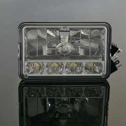 """United Pacific 31365 4x6"""" 5 LED High/Low Crystal Headlight"""