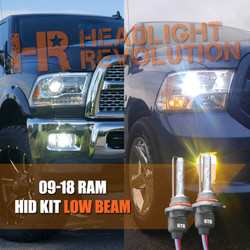 2009 - 2018 Dodge Ram HID Headlights Upgrade - LOW BEAM HID Conversion Kit