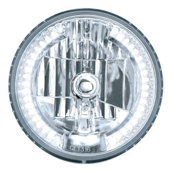 "United Pacific 31379 7"" Round Crystal Reflector Headlight with 34 White LEDs"