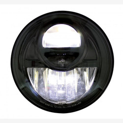 "United Pacific 31292 Black 7"" Round Projection Style LED Headlight"
