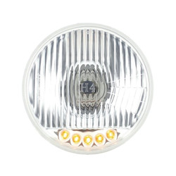 "United Pacific S2005LED 5.75"" Round Crystal Reflector Headlight with 5 Amber LEDs"