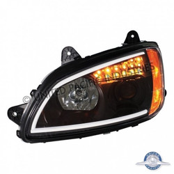 "United Pacific 31463 ""Blackout"" Kenworth T660 Projection Headlight - Driver Side"